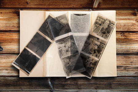 old envelope: old negatives by photographic film