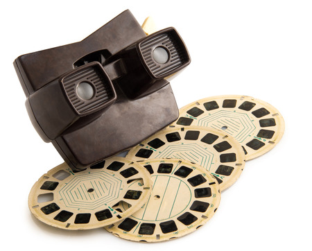 old photographs vintage viewmaster white background
