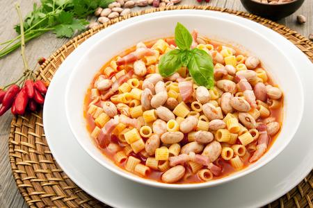original italian pasta with beans