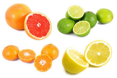Colagem de frutas no fundo branco Foto de archivo - 88830456