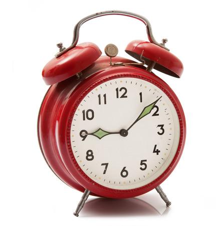 isolated alarm clock on white background Stock Photo