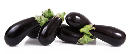 a fresh eggplant on white background Banque d'images