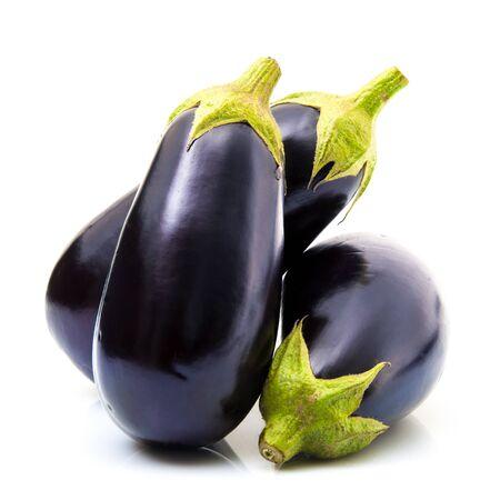 a fresh eggplant on white background Standard-Bild