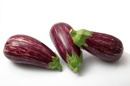 a fresh eggplant on white background Banco de Imagens