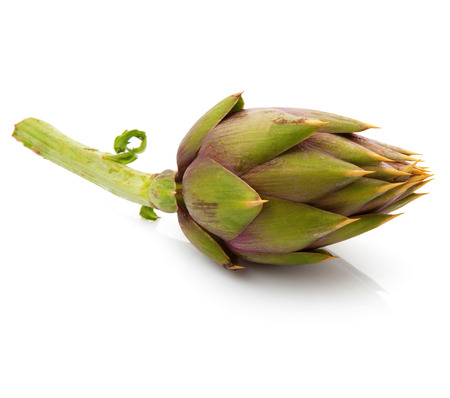 fresh artichoke on white background Фото со стока
