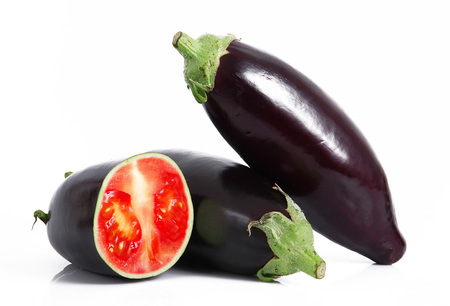 strange ibrid vegetable eggplant-tomato
