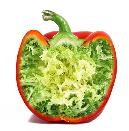 strange ibrid vegetable fruit pepper-salad