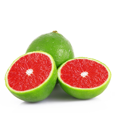 strange ibrid fruit lime-grapefruit Stock Photo