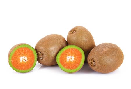 strange ibrid fruit orange-kiwi