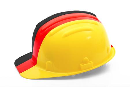 german safety helmet on white background