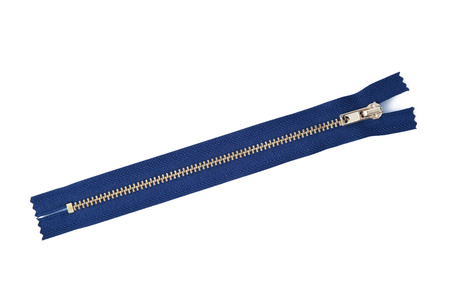 a Zipper on white background Standard-Bild