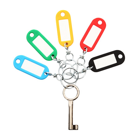 Key Ring collage on white background