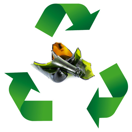 Waste recycling Symbol on white background Stock Photo