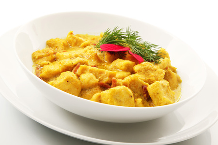 Original Asian curry Chicken dish Stock Photo