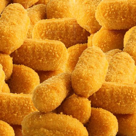 een aardappelen gebakken kroketten achtergrond