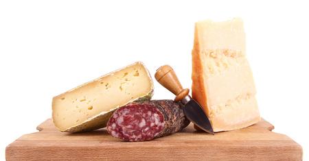 original italian food specialties on white background