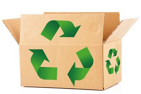 carton box on white background Foto de archivo - 95776392
