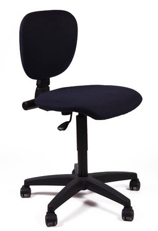 chaise de bureau sur fond blanc Banque d'images