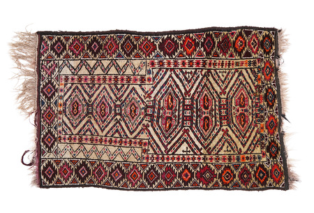 a precious persian carpet on white background Foto de archivo - 95775951