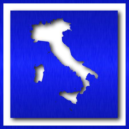 italy map on white background Reklamní fotografie