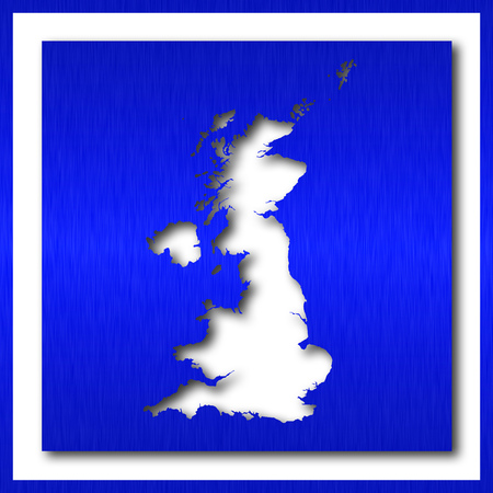 great britain map on white background