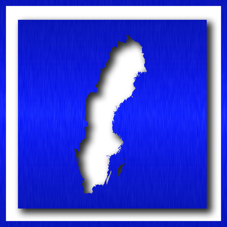 sweden map on white background
