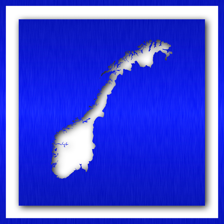 norway map on white background