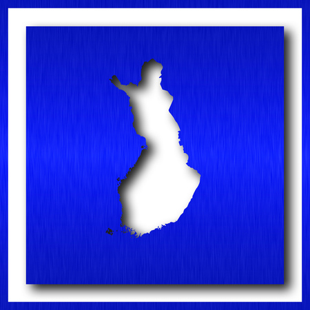 finland map on white background