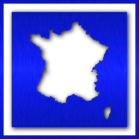 france map on white background
