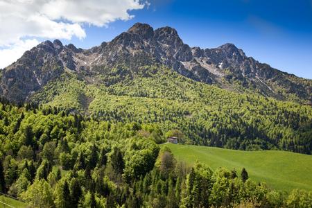 a great landscape of italian alps Stock Photo