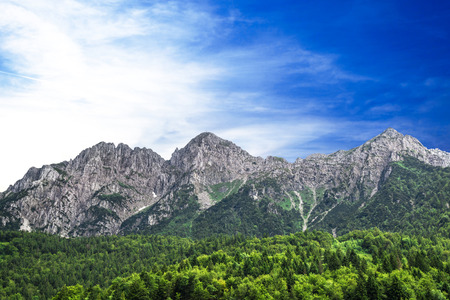 a great landscape of italian alps Stockfoto