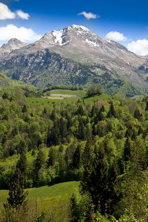 a great landscape of italian alps Foto de archivo