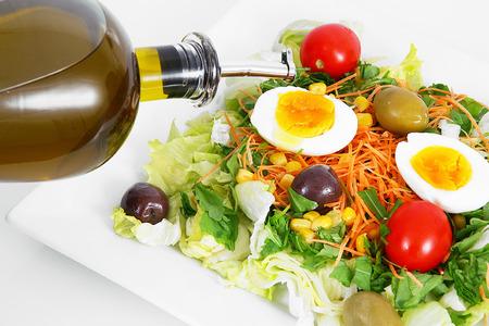fresh salad dish on white background