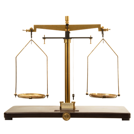 old scales on white background Фото со стока - 98463658