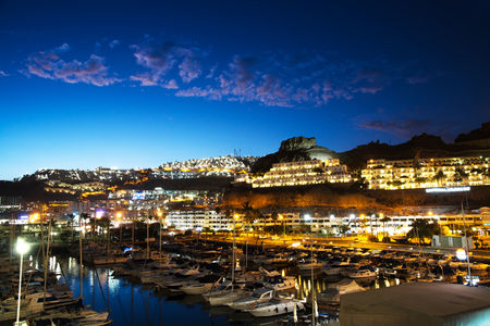 a Puerto Rico Night view in the Canary Islands