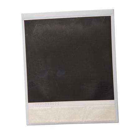 una polaroid originale su sfondo bianco