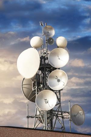 a Group of antennas for digital transmissions Banco de Imagens