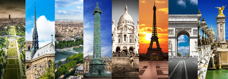a collage of images of Paris