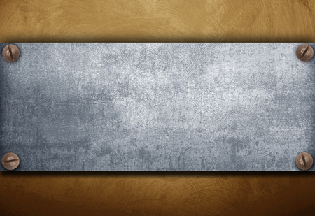 a industrial metal plate on a vintage background Banco de Imagens