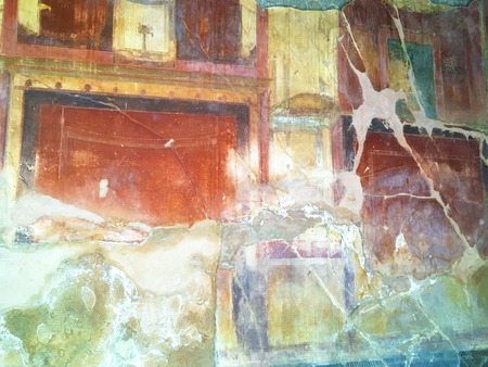 the frescoes in the archaeological site of Herculaneum