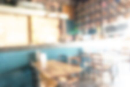 a blurred background of restaurant interior