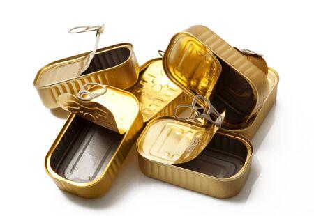 some golden metal food boxes Stock fotó