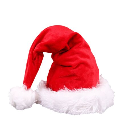 a Santa Claus hat on white background