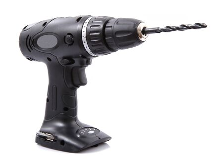 an electric drill on a white background