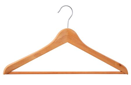a wooden hanger on a white background