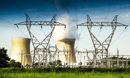 an active nuclear power station Фото со стока