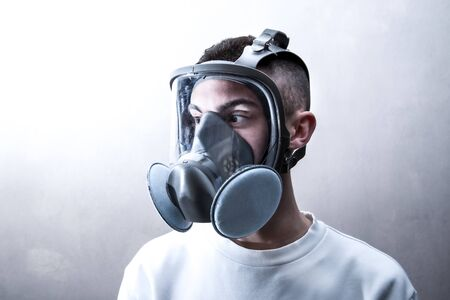 a person with antibacterial mask