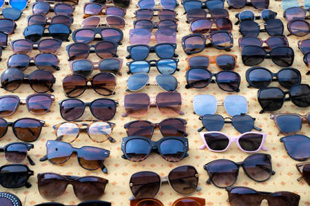 a group of sunglasses at the market 免版税图像