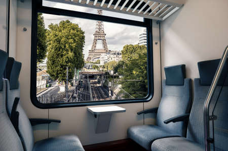 the Paris subway seen from the window of a carriage