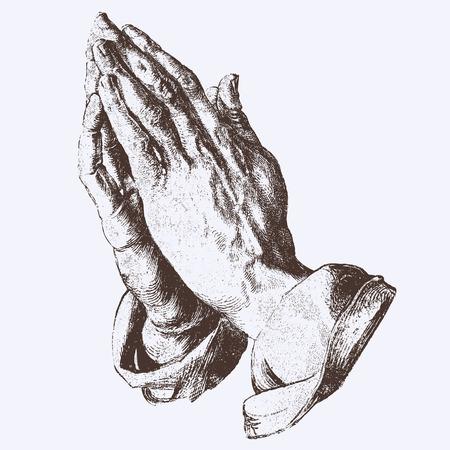 prayer hands: pregando mani Vettoriali
